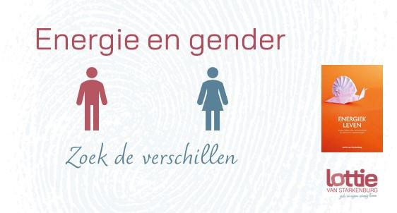 Energie en gender picto's van man en vrouw Zoek de verschillen met afbeelding van boek 'Energiek leven'